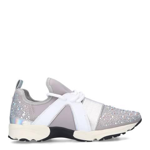 Carvela Grey Lament Bling Sneakers