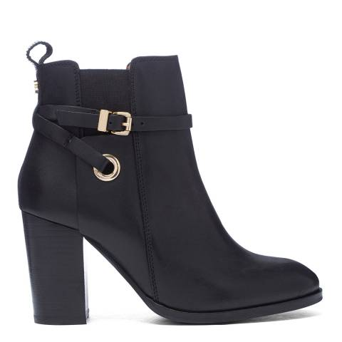 Carvela Black Leather Stacey Ankle Boots