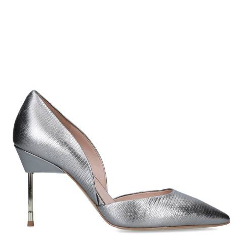 Kurt Geiger Grey Leather Bond Heeled Shoes