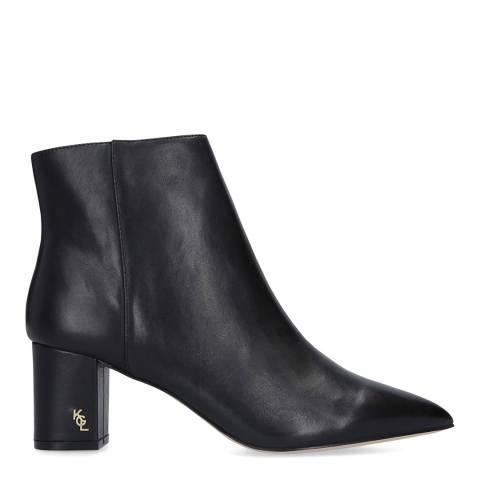 Kurt Geiger Black Leather Burlington Ankle Boots