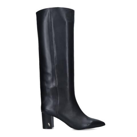 Kurt Geiger Black Leather Burlington High Knee Boots
