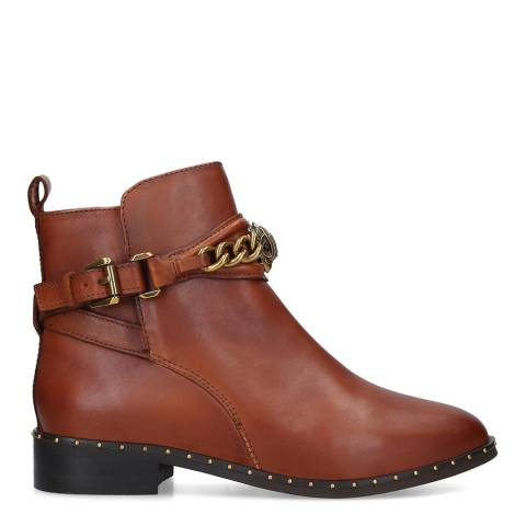 Kurt Geiger Brown Leather Jodhpur Chelsea Boots