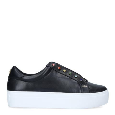 Kurt Geiger Black Leather Liviah Rainbow Sneakers