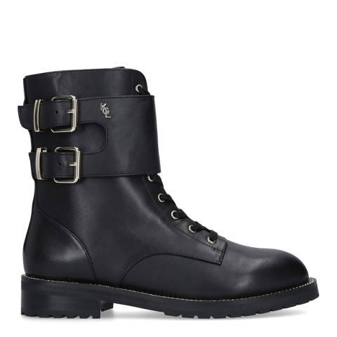 Kurt Geiger Black Leather Sutton Ankle Boots