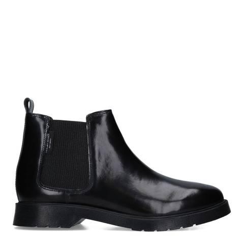 Kurt Geiger Black Leather Hadden Chelsea Boots