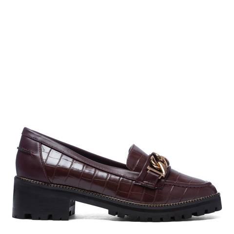 Kurt Geiger Brown Maddox Flatform Loafers