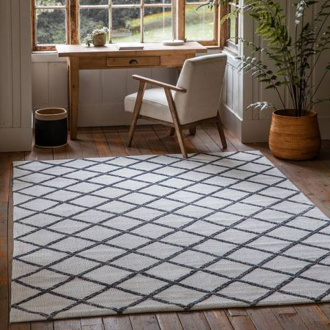 Gallery Kenza Rug Cream Charcoal 200x290cm