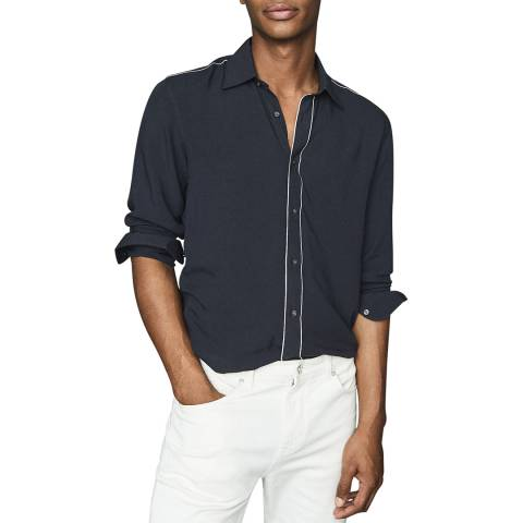 Reiss Navy Player Piped Shirt