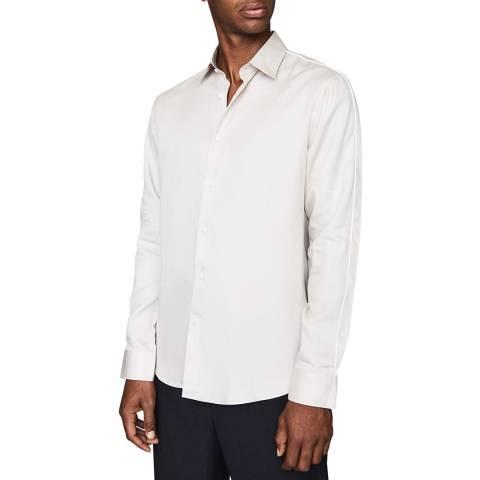Reiss Taupe Kamara Slim Fit Shirt