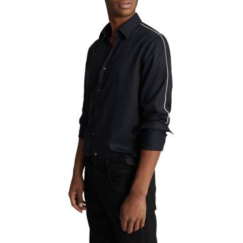 Reiss Navy Kamara Slim Fit Shirt