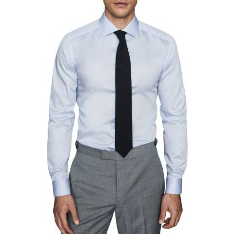Reiss Soft Blue Remote Cotton Shirt