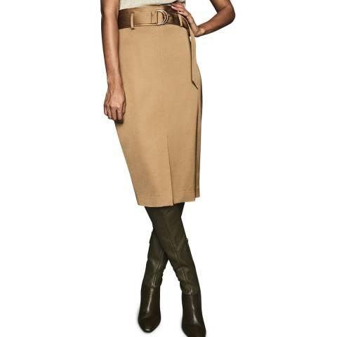 Reiss Gold Bryn Paper Bag Skirt