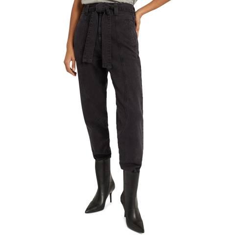 Reiss Dark Grey Flynn Tapered Stretch Jeans