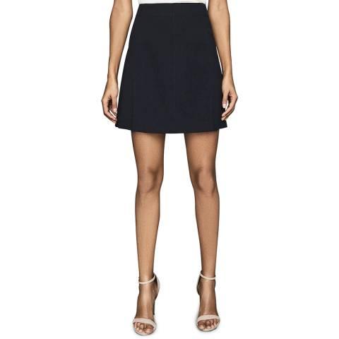 Reiss Navy Fran Mini Flippy Skirt
