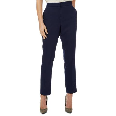 Reiss Navy Corsico Wool Blend Suit Trousers