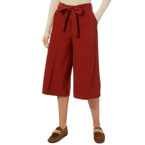 Reiss Rust Eleanor Belted Culottes