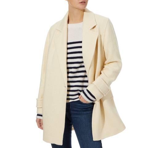 Reiss Neutral Skye Wool Blend Coat