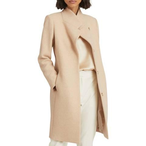 Reiss Stone Marcie Wool Blend Coat