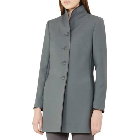 Reiss Slate Bell Short Wool Blend Coat
