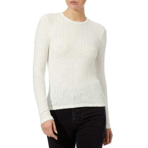 Reiss Ivory Micha Knit Top