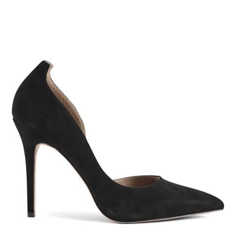 Reiss Black Alberta Suede Leather Heels