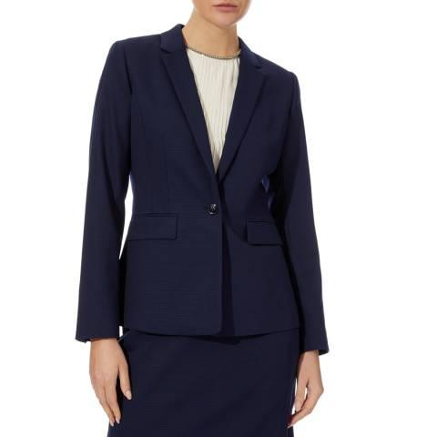 Reiss Navy Corsico Wool Blend Blazer