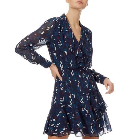 Reiss Navy/Teal Maris Floral Dress