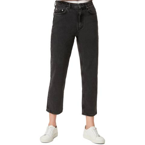 French Connection Washed Black Lillian Straight Jeans