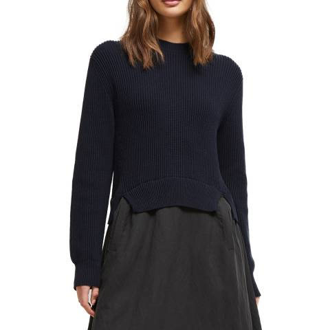 French Connection Navy Sienna Mozart Mixed Dress