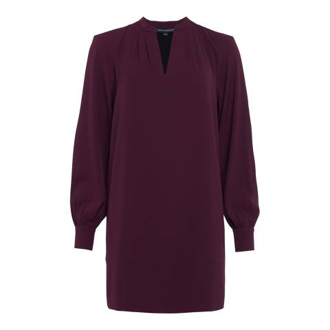 French Connection Plum Mahi Crepe Solid Pop Over Dress