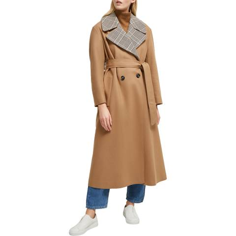 French Connection Camel Carmelita Wool/Cashmere Blend Coat