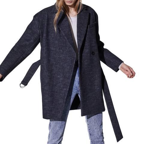 IRO Deep Blue Fernand Wool Blend Jacket
