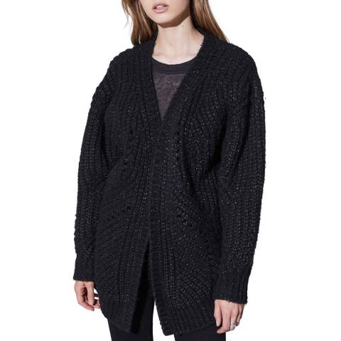IRO Black Vesna Wool Blend Cardigan