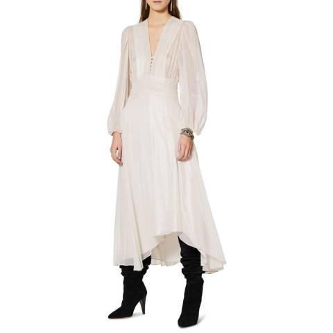 IRO White Metallic Joucque Dress