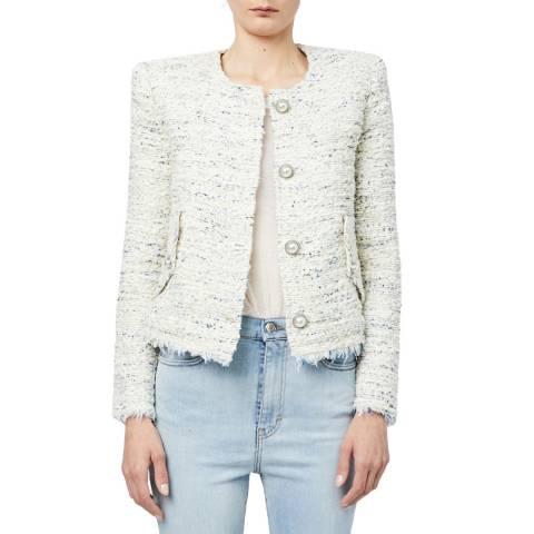 IRO Ecru Tweed Mercie Jacket