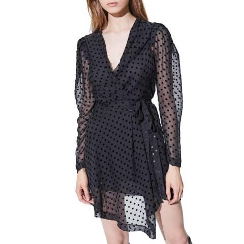 IRO Black Dot Oxomo Silk Blend Dress
