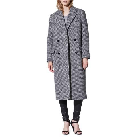 IRO Charcoal Sikinos Wool Blend Coat