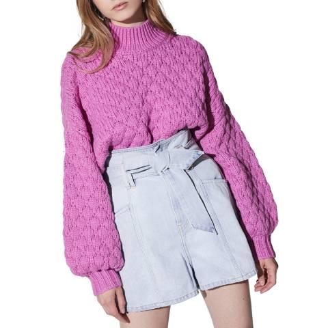 IRO Pink Alya Wool Blend Jumper