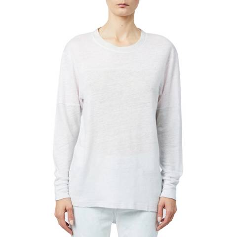 IRO Grey Lupa Linen Long Sleeve Top