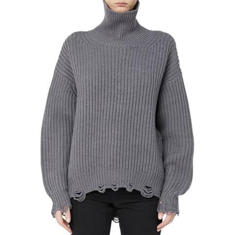 IRO Grey Distressed Haedus Wool Jumper