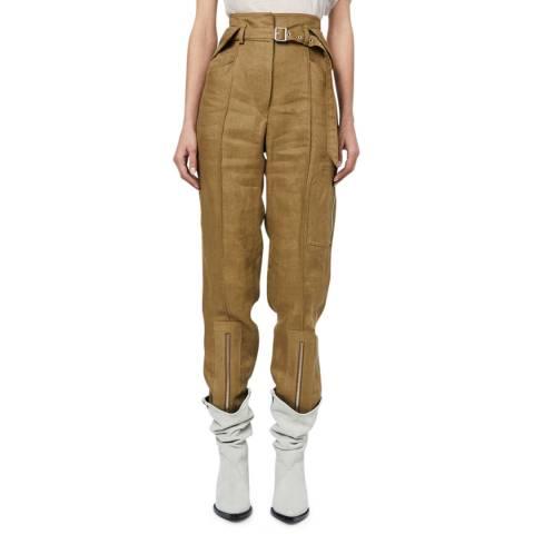 IRO Khaki Belted Tria Trousers