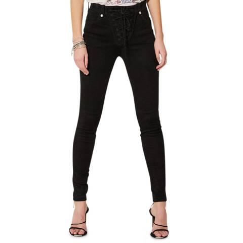 IRO Black Lace Up Vaita Suede Trousers