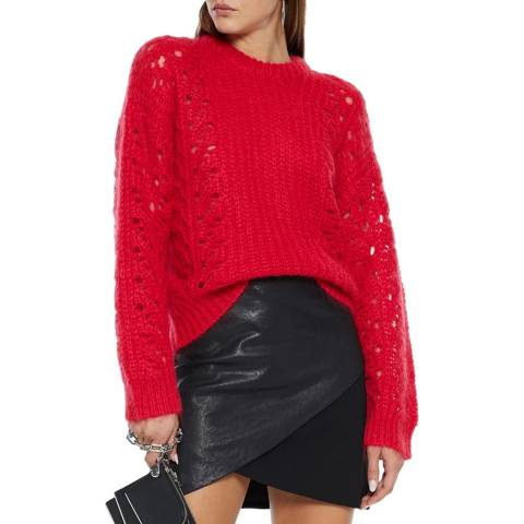 IRO Red Cable Markyl Mohair Blend Jumper