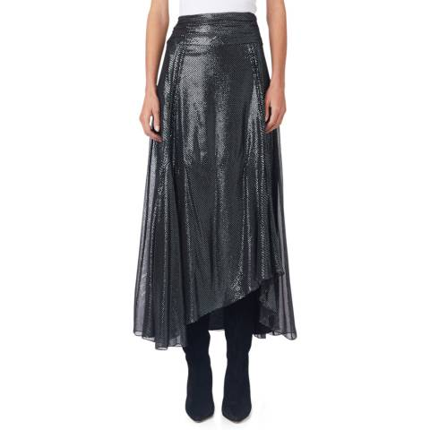IRO Black Metallic Greoux Skirt