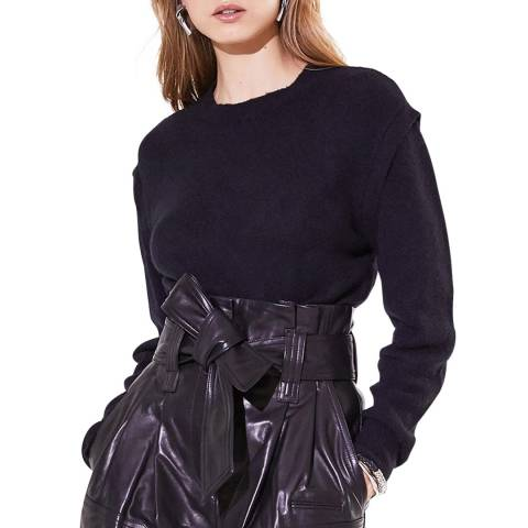 IRO Black Roby Wool/Cashmere Blend Jumper