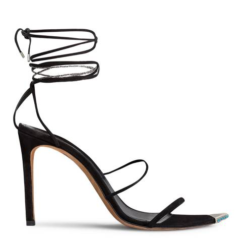 IRO Black Suede Hyne Heeled Sandals
