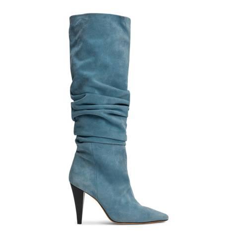 IRO Light Blue Suede Bailey Boots