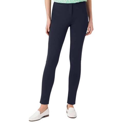 Hobbs London Navy Delany Stretch Trousers