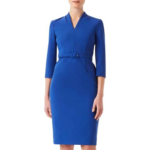 Hobbs London Blue Dianna Dress
