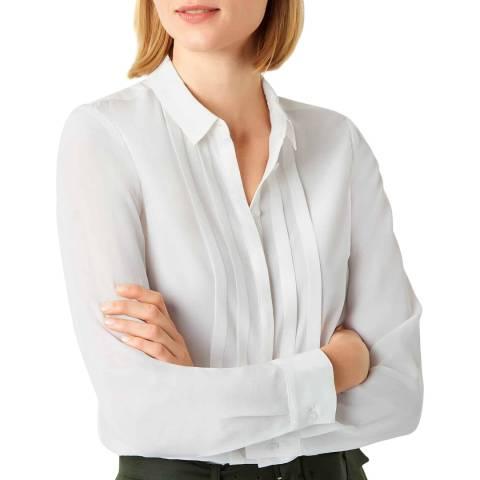 Hobbs London Ivory Elise Silk Shirt